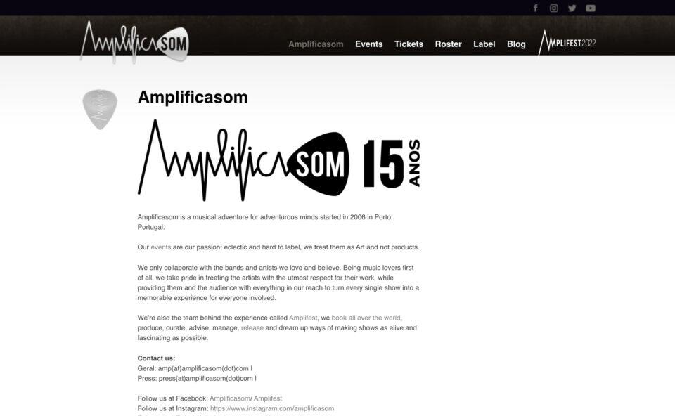 AmplificasomのWEBデザイン