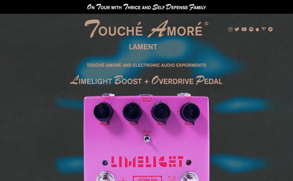 Touché Amoré | New Album 'Lament' Oct NowのWEBデザイン