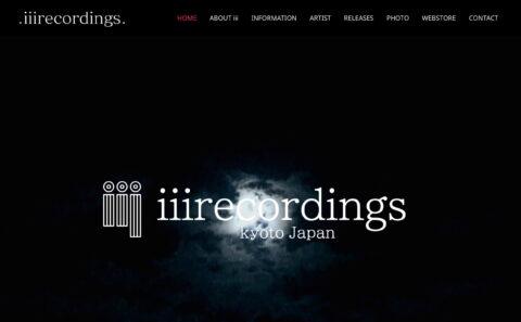 .iiirecordings. – iiirecordings Kyoto Japan underground.のWEBデザイン
