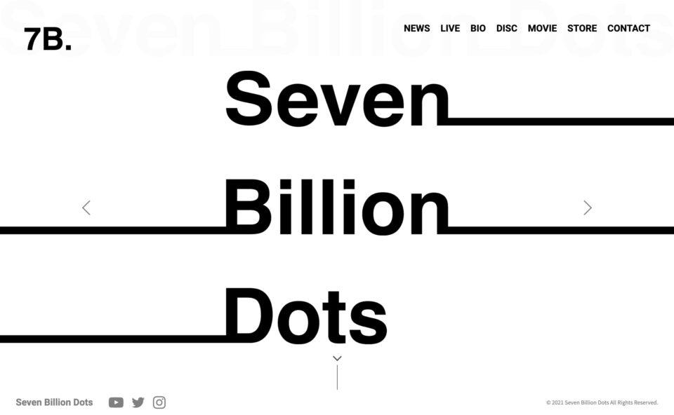 7B. | Seven Billion DotsのWEBデザイン