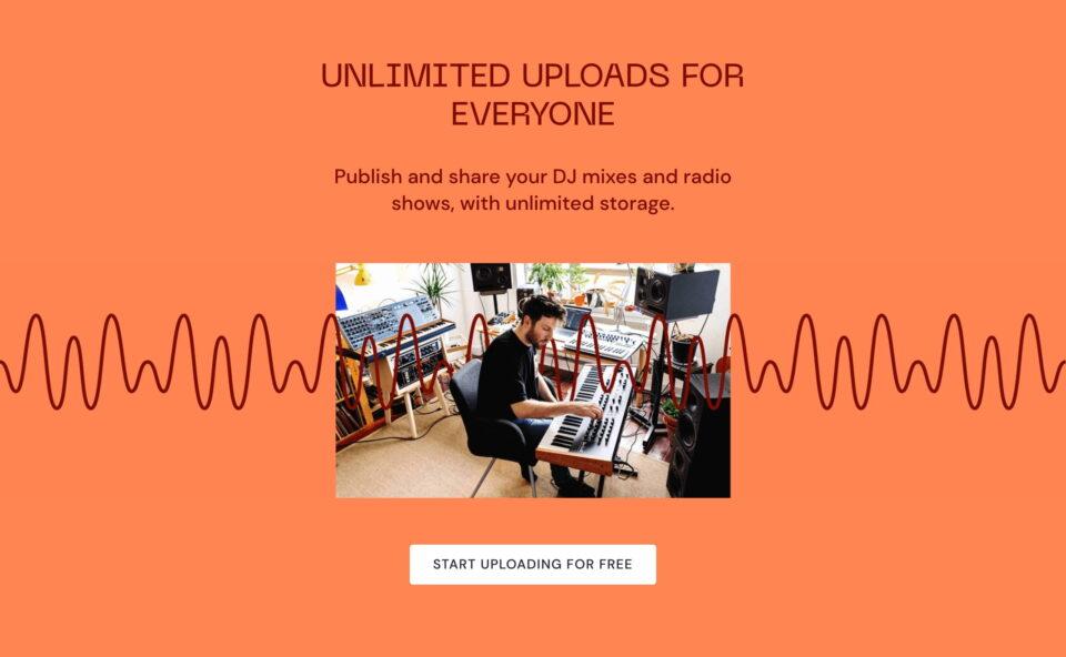 Mixcloud – This is Audio Culture   MixcloudのWEBデザイン