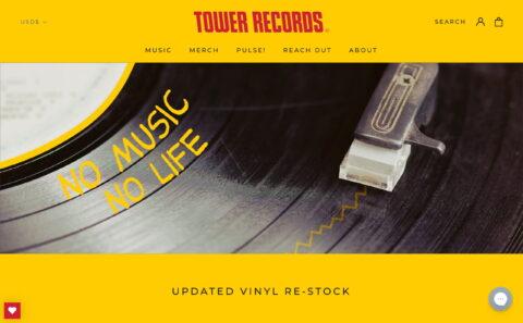 Tower RecordsのWEBデザイン