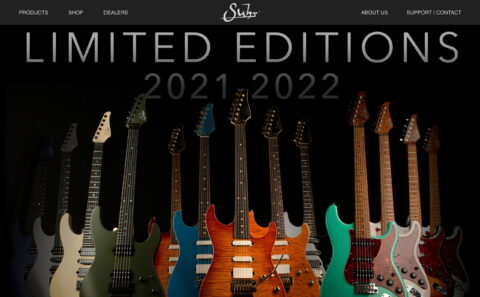 Suhr.com | Welcome to Suhr | JS Technologies, Inc.のWEBデザイン