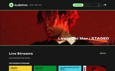Audiotree | Music DiscoveryのWEBデザイン